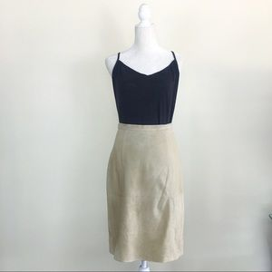 Rare Tommy Bahama Vintage Suede Leather Skirt